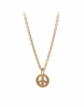 Peace Necklace Gold Plated