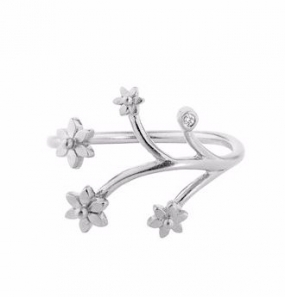 Flower Ring Silver