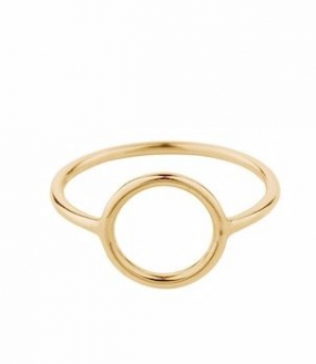 Halo Ring Small Gold Plated