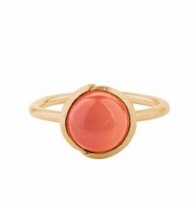 Aura Coral Ring Gold Plated