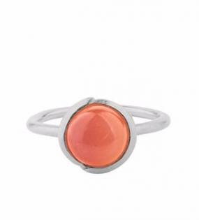 Aura Coral Ring Silver