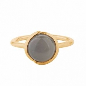 Aura Grey Moonstone Ring Gold Plated