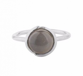 Aura Grey Moonstone Ring Silver