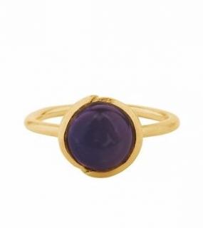 Aura Amethyst Ring Gold Plated