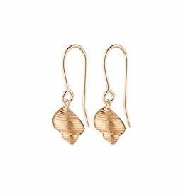 Concha Earrings Gold Plated