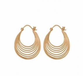 Silhouette Earrings Gold Plated