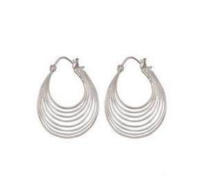 Silhouette Earrings Silver