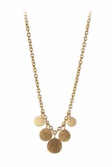 Mini Coin Necklace Gold Plated