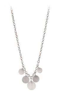 Mini Coin Necklace Silver