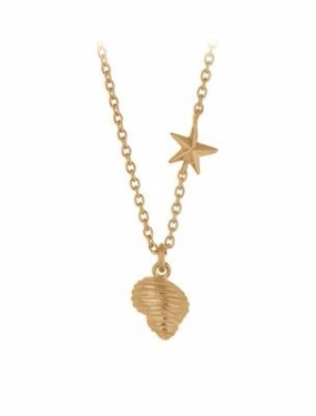 Concha Necklace Gold Plated