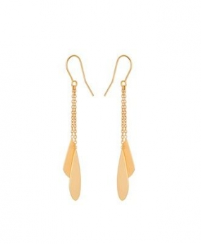 Raindrop Earhooks, Gold Plated