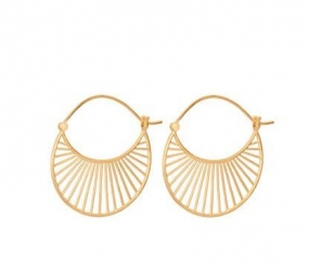 Large Daylight Earrings, Gold Plated