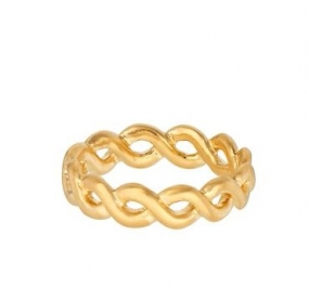 Cicerone Ring, Gold Plated
