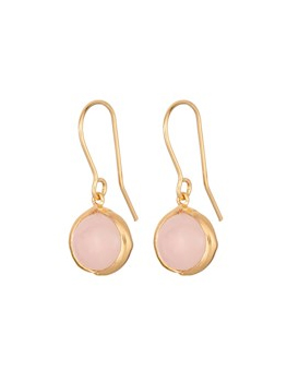 Aura Rose Earhooks, Gold Plated
