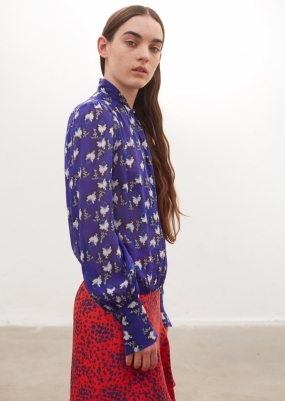 BLOUSE ASTRIDE, ELECTRIC IRIS