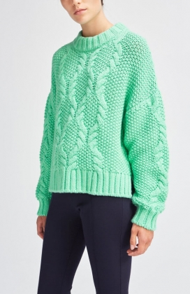 Carrie Alpaca Sweater, Green