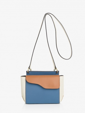 AULLA  BAG, SKY BLUE/TERRA/ICE WHITE VACCHETTA