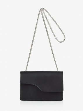 POMERANCE BAG, BLACK VALCCETTA
