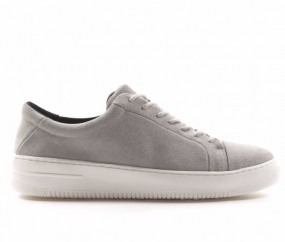Base Shoe Suede Men Light Grey
