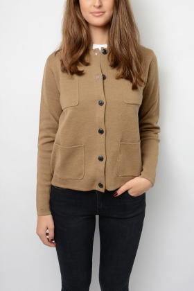 DELL CARDIGAN, CAMEL