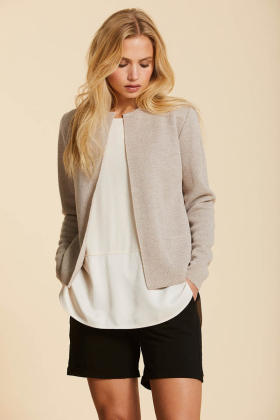 SENSE CARDIGAN, LIGHT SAND