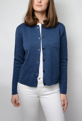 DELL CARDIGAN, DARK DENIM