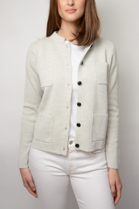 DELL CARDIGAN, LIGHT MEL GREY