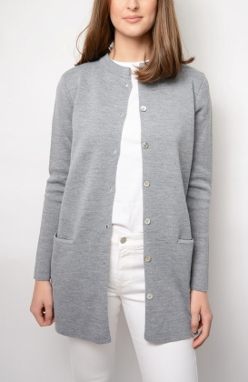 AMALFI CARDIGAN, SWEAT GREY