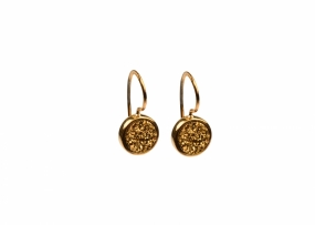 FRANCES DRUZY EARRINGS GOLD, GOLDEN