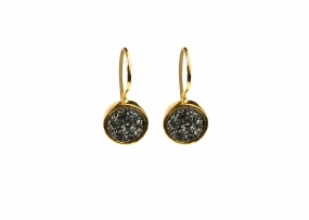 FRANCES DRUZY EARRINGS GOLD, GREY
