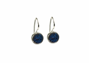 FRANCES DRUZY EARRINGS SILVER, BLUE