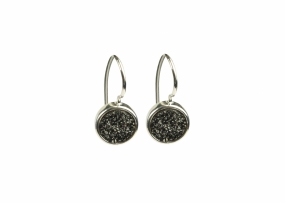 FRANCES DRUZY EARRINGS SILVER, GREY