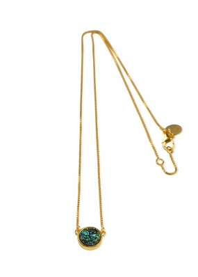 FRANCES DRUZY NECKLACE, GOLD GREEN