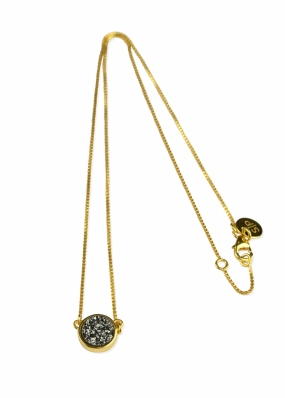 FRANCES DRUZY NECKLACE, GOLD GREY