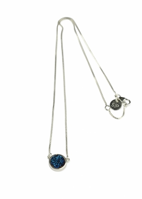 FRANCES DRUZY NECKLACE SILVER, BLUE