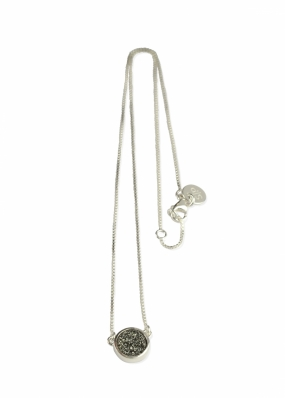 FRANCES DRUZY NECKLACE SILVER, GREY