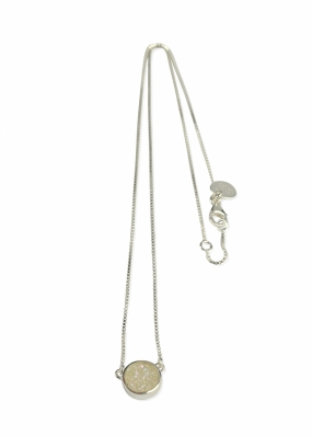 FRANCES DRUZY NECKLACE SILVER, MOON