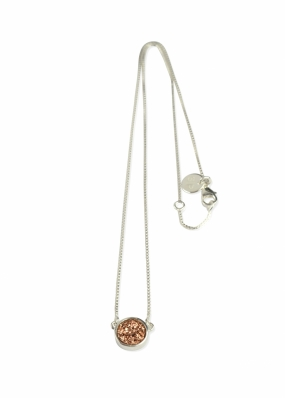 FRANCES DRUZY NECKLACE SILVER, ROSE