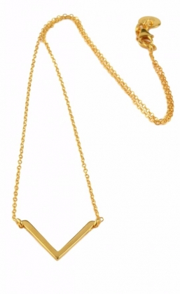 Strict Simple V Necklace Gold