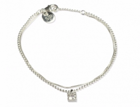 Adorable Bracelet Crystal Silver