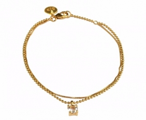 Adorable Bracelet Crystal Gold