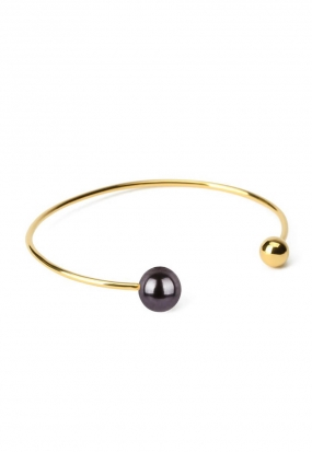 PEARLY DOUBLE PEARL BANGLE, BLACK