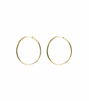 Beloved Medium Hoops, Gold