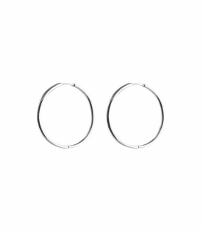 Beloved Medium Hoops, Silver