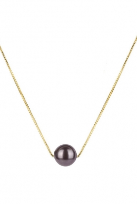 PEARLY SHORT NECKLACE GOLD, BLACK