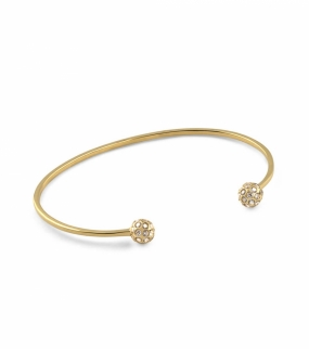 Strict Sparkling Bangle Ball, Gold