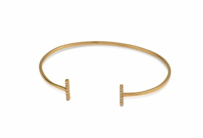 Strict Sparkling Bangle Bars, Gold