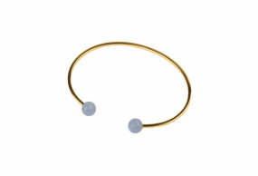 Planet Bracelet Gold, Blue Lace