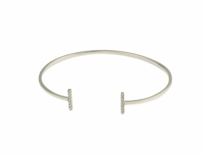 Strict Sparkling Bangle Bars, Silver