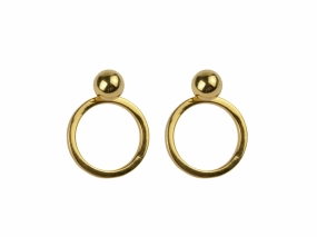 Planet Earrings Gold, Gold